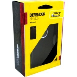 OtterBox Defender Case for iPhone 4 - White Plastic / Black Silicone