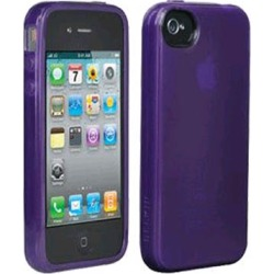 Belkin iPhone 4 High Gloss Silicone Cover - Purple (Bulk Packaging)