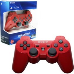 PS3 - Controller - Wireless - DualShock 3 - New - Deep Red (Sony)