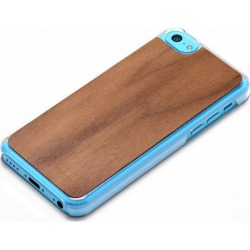 Carved - Walnut Wood Clear Case for Apple iPhone 5C found on Bargain Bro India from Unlimited Cellular for $18.39