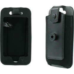 Case Logic Leather Case with Belt Clip for Apple iPhone 4 - Black