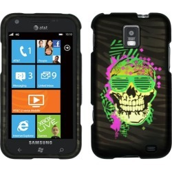 Unlimited Cellular Protector Cover Case for Samsung I937/ Focus S (Trendy Skull 2D Rubberized Crystal Clear) found on Bargain Bro India from Unlimited Cellular for $5.99