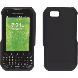 Two piece Soft Touch Snap-On Case for Motorola TITANIUM - Black found on Bargain Bro India from Unlimited Cellular for $5.99