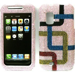 Unlimited Cellular Snap-On Case for Samsung Fascinate/Mesmerize (Full Diamond Crystal, Colorful Piping on Pink) found on Bargain Bro Philippines from Unlimited Cellular for $6.99