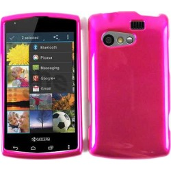 Unlimited Cellular Rubberized Snap-On Cover Faceplate for Kyocera C5155 / Rise (Honey Hot Pink)