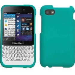 Cell Armor Snap-On Case for Blackberry Q5 - Rubberized Emerald Green