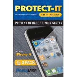 PanaVise Protect-It 4 Anti-Glare Screen Protector (3 Pack) for Apple iPhone 4