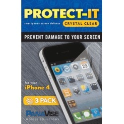 PanaVise Protect-It Clear Screen Protector (3 Pack) for Apple iPhone 4