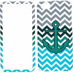 Unlimited Cellular Snap-On Protector Case for Apple iPhone 5C (Green Anchor on Blue/Green Chevron) found on Bargain Bro India from Unlimited Cellular for $5.99