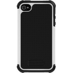 Apple Iphone 4/4s Agf Ballistic Tough Jacket Series Case - Black And White