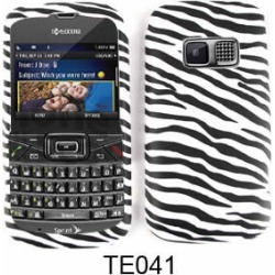 Cell Armor Snap-On Case for Kyocera Brio (Leather Finish, Zebra Print)