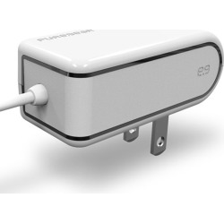 PureGear 2.4A Travel Charger/Lightning Devices for Apple iPhone 5/5S (White)