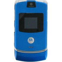 Blue - Motorola V3 Razr Cell Phone, Bluetooth, Camera, GSM Phone - Unlocked