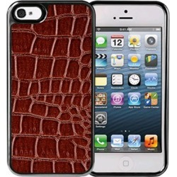 Xentris Wireless Hard Shell for Apple iPhone 5/5S - Brown Alligator/Gunmetal Trim found on Bargain Bro India from Unlimited Cellular for $29.99