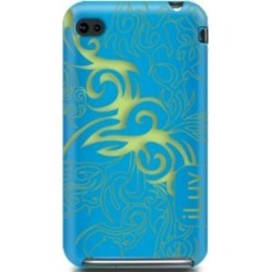 New iLuv Tribal Blue & Green Silicone Case for iPhone 4
