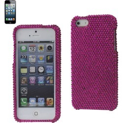 Reiko - Diamond Protector Cover for Apple iPhone 5 - Hot Pink found on Bargain Bro India from Unlimited Cellular for $9.09