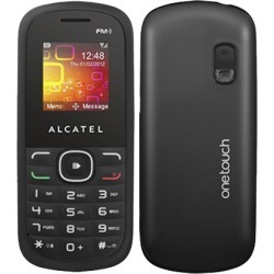 Alcatel OT-308 One Touch 308 Candy Bar Style Cell Phone, Camera, GSM 850/1900 - Unlocked (Black)