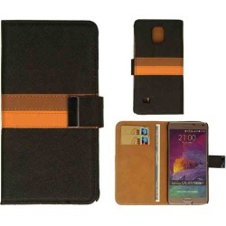 Wallet Diary Case, BK/BR/OR Leather