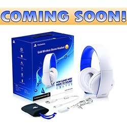 Sony - Gold Stereo Wireless Headset  for PS4 - Glacier White