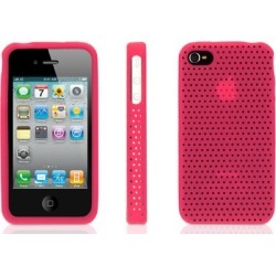 Griffin FlexGrip Punch Silicone Cover Case with Stand for Apple iPhone 4/4S (Pink) (Bulk Packaging)