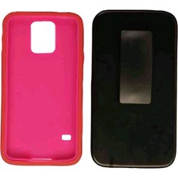 Cell Armor Hybrid Novelty Case Samsung Galaxy S5 (Hot Pink Skin/Black Holster) - SAMGS5-NOV-I07-GMA found on Bargain Bro Philippines from Unlimited Cellular for $6.79