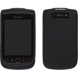 Milante Black Rubber Snap On Case for BlackBerry 9800 Torch