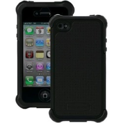 Ballistic Shell Gel Maxx Holster Case for Apple iPhone 4/4S (Black/Black)