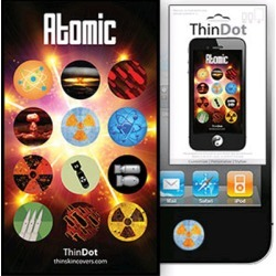 True Power ThinDot Home Button Decals for Apple Devices - Atomic