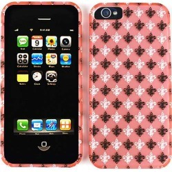 Unlimited Cellular Snap-On Case for Apple iPhone 5/5S (Trans.Design. Black/White Saints Logo On LightPink) found on Bargain Bro India from Unlimited Cellular for $5.99