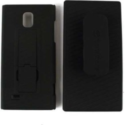 Unlimited Cellular Hybrid Case with Holster for LG Spectrum 2 VS930 (Black)