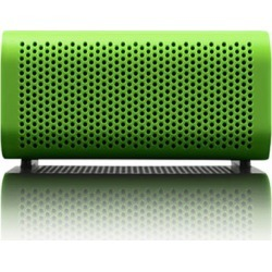 Braven 440 Portable Bluetooth Speaker Mobile Device Charger Speakerphone (Green/Black End Caps)