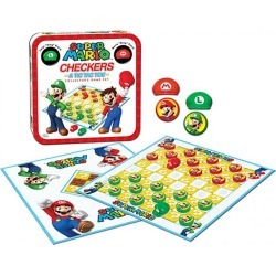Toy - Board Game - Super Mario - Checkers/Tic Tac Toe Combo (Nintendo)