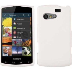 Unlimited Cellular Rubberized Snap-On Cover Faceplate for Kyocera C5155 / Rise (Honey White, Leather Finish)