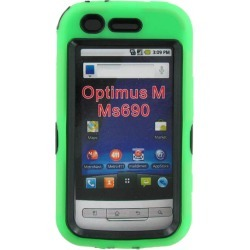 LG Optimus M MS690 Dual Snap-on Hard Case (Green/Black) found on Bargain Bro India from Unlimited Cellular for $14.99
