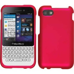 Cell Armor Snap-On Case for Blackberry Q5 - Rubberized Honey Hot Pink