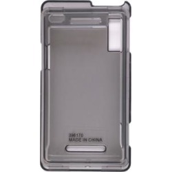 Smoke 2 Piece Snap On Case for Motorola A855 Droid