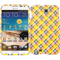 Unlimited Cellular Snap-On Case for Samsung Galaxy Note i717 (Orange/Yellow Plaid) found on Bargain Bro from Unlimited Cellular for USD $4.55
