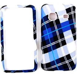 Cell Armor Snap-On Case for Samsung Prevail M820 - Blue Plaid found on Bargain Bro India from Unlimited Cellular for $5.99