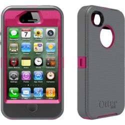 OtterBox - Defender Case for Apple iPhone 4s/4 Cell Phones - Pink/Gray