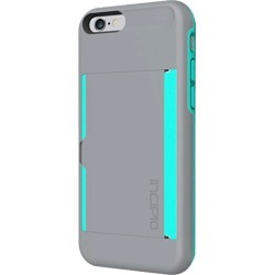 Incipio Stowaway Case Cover for Apple iPhone 6 (Gray/Teal) - IPH-1185-GRYTEAL