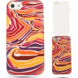 Unlimited Cellular Hybrid Fit On Jelly Case for Apple iPhone 5 / 5S (Red/Orange/Purple Zebra Print) found on Bargain Bro India from Unlimited Cellular for $6.99