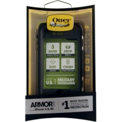 OtterBox Armor Case for Apple iPhone 4/4S - Black/Green