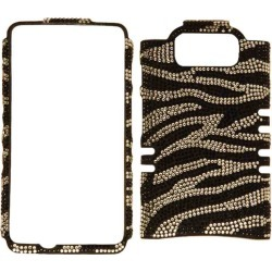Unlimited Cellular Rocker Snap-On Full Diamond Crystal Case for Motorola Droid Maxx / Ultra (Clear Zebra) found on Bargain Bro India from Unlimited Cellular for $7.59
