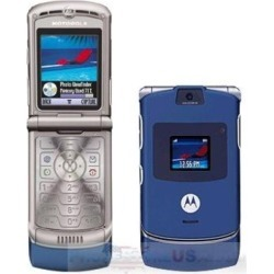 Motorola V3 Razr Cell Phone Bluetooth, Camera and GSM Phone (Blue) - V3G-Blue-Unlocked-UD-A2Z2