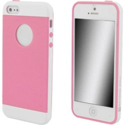 Beyond Cell Inflex TPU Silicone Case for Apple 5 / 5S (White/Pink)