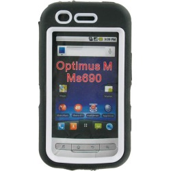 LG Optimus M MS690 Dual Snap-on Hard Case (Black/White) found on Bargain Bro India from Unlimited Cellular for $14.99
