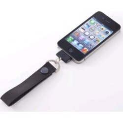 Simplism Japan  Leather Dock Strap for Apple iPhone - 1 Pack - Retail Packaging - (Black) - TR-LSIP-BK/EN found on Bargain Bro India from Unlimited Cellular for $21.59