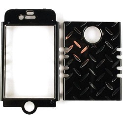 Unlimited Cellular Rocker Snap-On Case for Apple iPhone 4/4S (Chrome Print Design Black) found on Bargain Bro India from Unlimited Cellular for $5.99