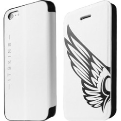 ITSKINS Angel Folio for Apple iPhone 5/5S - White/Black found on Bargain Bro India from Unlimited Cellular for $17.69