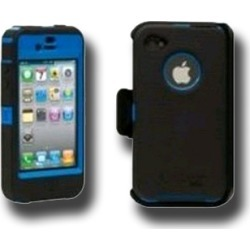 OTTERBOX DEFENDER CASE FOR IPHONE 4 AT&T (GSM), BLACK / BLUE